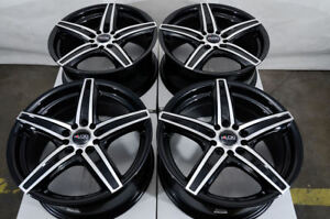 16x7 Black Wheels Fits Toyota Camry Celica Matrix Is200 Civic Accord Wrx Rims