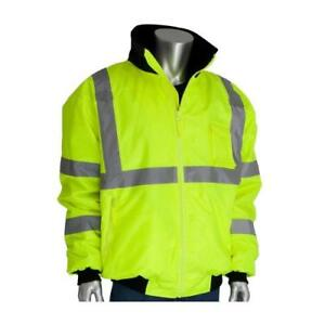 Pip Yellow Class 3 Bomber Jacket l Reflective Construction 333 1762 yel l