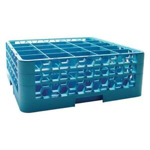 Carlisle Rg25 214 25 Compartment Opticlean Glass Rack With 2 Extenders