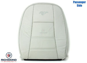 1999 2004 Ford Mustang V6 Passenger Side Lean Back Leather Seat Cover White