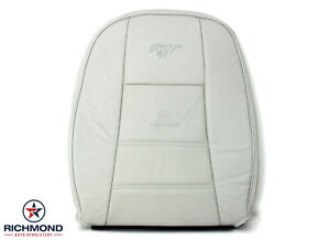2000 2001 2002 03 Ford Mustang V6 Driver Side Lean Back Leather Seat Cover White