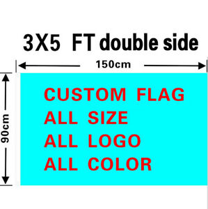 3 x5 Full Color Double Sided Custom Flag With Grommets for All Your Events