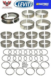 Ford 429 460 V8 Clevite Rod And Main Bearings With Hasting Moly Rings 68 93