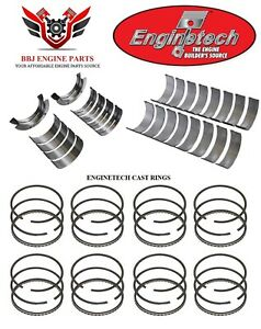 Enginetech Ford 429 460 V8 Rod And Main Bearings With Piston Rings 1968 1993