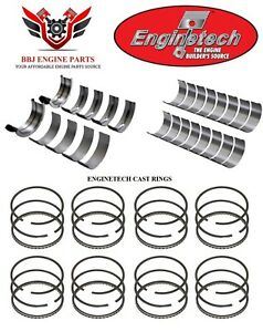 Enginetech Amc Jeep 290 304 V8 Rod And Main Bearings With Piston Rings 66 81