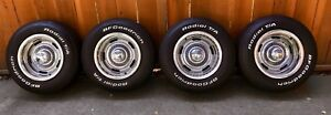 15x8 Aftermarket Chevy Corvette Rally Wheels Set Of 4