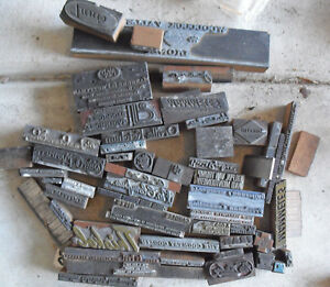 Big Lot Of Vintage Wood Letterpress Print Blocks Advertising Images And More 2