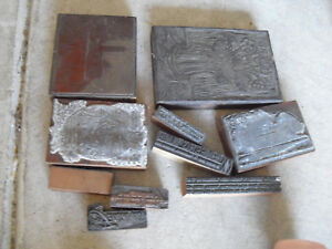 Lot Of Vintage Wood Letterpress Print Blocks Advertising Images And More 3