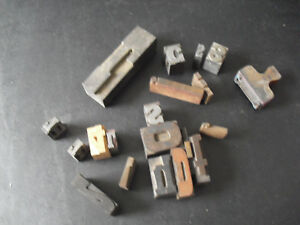 Lot Of 20 Vintage Wood Metal Letters Numbers Letterpress Printer Blocks