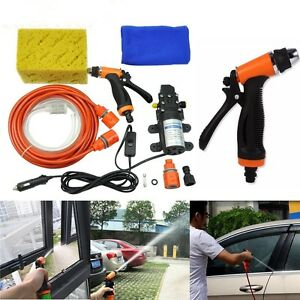 Portable Electric Car High Pressure Wash Washer Self priming 12v 70w Water Pump