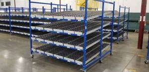 Unex Span Track Wheel Bed Gravity Flow Rack 13 Avail