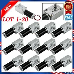 12v Dc Motor High Torque Electric Power Turbo Reducer Worm Gear Reversible Lot V