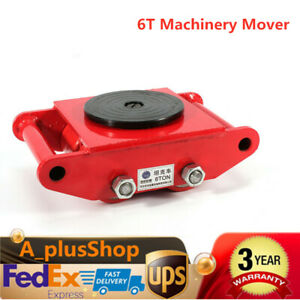 6t 13200lb Heavy Duty Machine Dolly Skate Roller Machinery Mover 360 Rotation