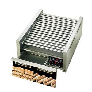 Star 45cbd Grill max 45 Hot Dog Roller Grill W Bun Drawer