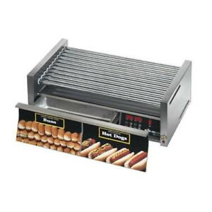Star 50scbde Grill max Pro Electronic 50 Hot Dog Roller Grill W Bun Drawer