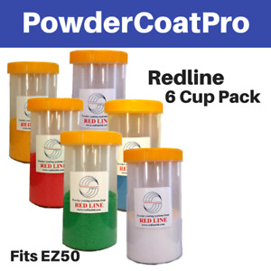 Redline Powder Coating Gun Cups fits Ez50 And Ez100 Models 6 Pack