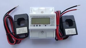 120 480v Electric Kwh Meter Din Rail Up To 7500 Amps Cts 2x200 Amps Cts Incld
