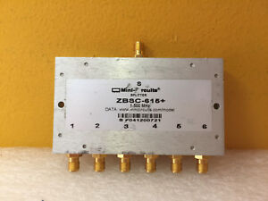 Mini circuits Zbsc 615 1 To 500 Mhz Sma f Power Splitter Combiner Tested