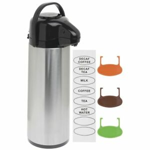 Airpot Coffe Server Thermal Coffee Dispenser 3l Stainless Steel Glass lined Pump