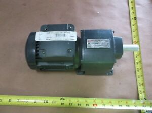 Emerson Browning Cbn15045a12456 08 Electric Motor With Gearbox Rpm 1750