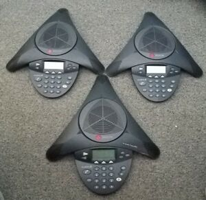 Lot Of 3 Polycom Soundstation 2 W Lcd 2201 16200 601 Sound Station