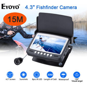 EYOYO 1000TVL Fish Finder 8Pcs IR LED Underwater fishing Camera 2600mAh Battery