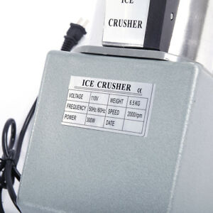 Electric Ice Crusher Shaver Machine Snow Cone Maker Shaved Ice 143 Lbs Silver Us
