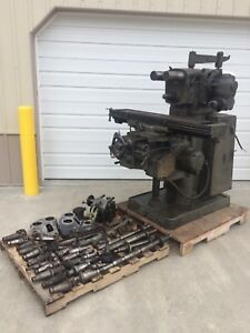 Brown Sharpe 2 Universal Horizontal Vertical Milling Machine Lots Of Tooling