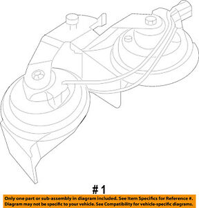 Ford Oem Horn 2w7z13800aa