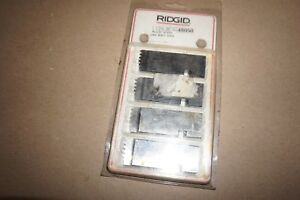 Nos Set Of 4 Genuine Ridgid 1 1 2 6 Unc Alloy Steel Unc Bolt Dies Part 48050