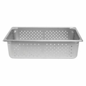 Vollrath 30063 Super Pan V Anti jam Steam Table hotel Pan Perforated Full