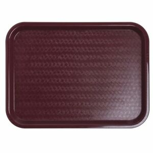 Carlisle Ct121661 Cafeteria fast Food Tray 12 X 16 Burgundy pack Of 24