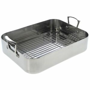 Norpro Krona Stainless Steel 16 25 X 12 5 Roaster With Rack