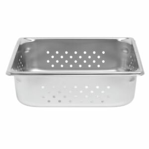 Vollrath 30243 Super Pan V Steam Table Pan Perforated 1 2 Size 4 Deep