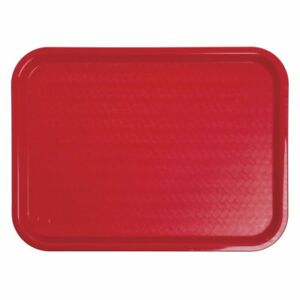 Carlisle Ct121605 Cafeteria Fast Food Tray 12 X 16 Red 24 Pk