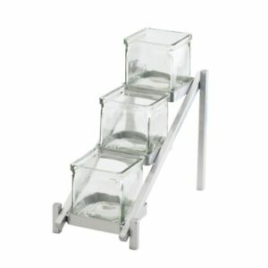 Cal mil One By One Condiment Holder 3 Tier Silver Metal 6 1 4 l X 13 1 4 d X