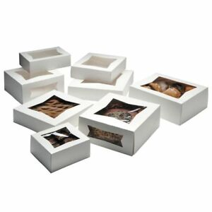 Bakery Box With Window White Paper 6 Sq X 3 H 200 Per Case