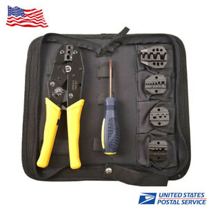 5 In 1 Professional Wire Crimper Pliers Tool Ratcheting Terminal Crimping Plier