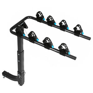 2 bike Hitch Mount Rear Rack Foldable Truck Carrier Trailer With 2 inch Receiver