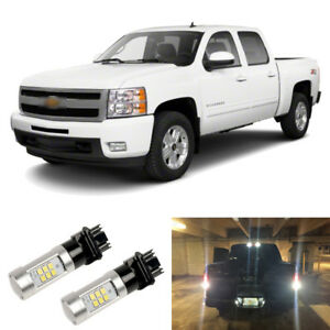 2000lm White 3156 3157 Led Reverse Backup Light Bulbs For 99 13 Chevy Silverado
