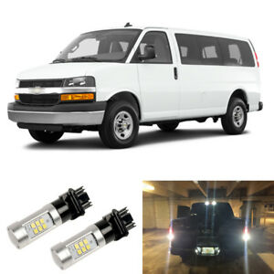 2000lm White 3156 3157 Led Reverse Backup Light Bulbs For 03 16 Chevy Express