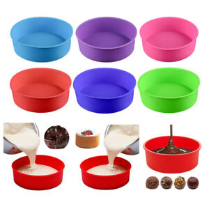 US New Silicone Round Bread Mold Cake Pan Muffin Bakeware Mold Baking Tray Mould