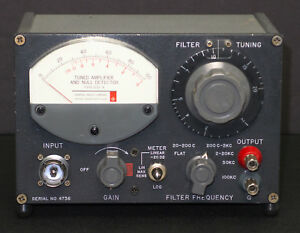 Gr General Radio 1232a Tuned Amplifier Null Detector 1232 a