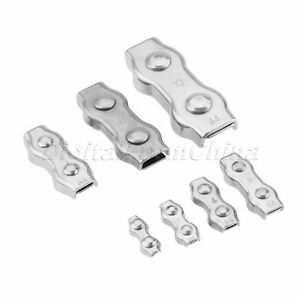 Portable M2 m10 Duplex Clips 316 Ss Wire Cable Rope Grips Clamps Caliper Use 1x