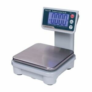 Taylor 10 Lb Stainless Steel Digital Portion Control Scale With Tower Readout