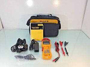 Fluke 345 Power Quality Clamp Meter W Case Test Probes And Clamps Tested