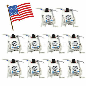 From Usa 10 Dental Portable Turbine Unit 4 hole Work With Air Compressor Sn4 C1z