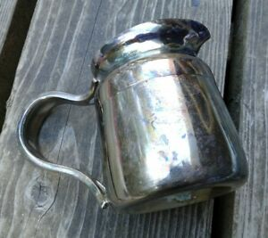 Reed Barton 4018 Silver Soldered 8 Oz Creamer Pitcher Patina Tarnish Heavy Met