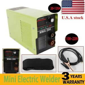 110v Dc Inverter Welder Mini Handheld Arc Welding Machine Mma 20 120a Igbt