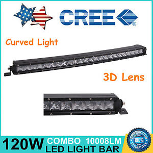 Curved 25 in 120w Single Row Cree Led Spot Light Bar Offroad Suv Car Boat 24 26